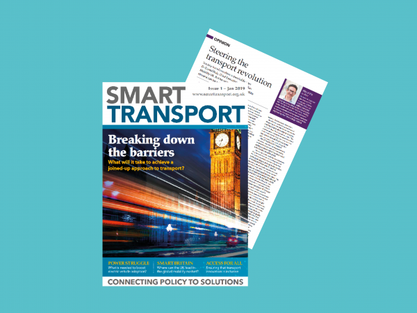 The cover of the magazine Smart Transport from January 2019