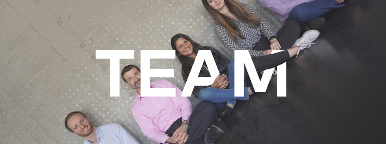 The Zenzic team sits cross-legged on the floor, the image intersected by the word 'Team'